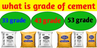 What is different grade of Portland cement 33 ,43 and53