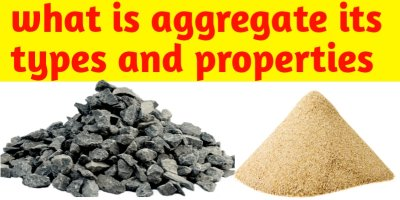 What is aggregate its types and properties