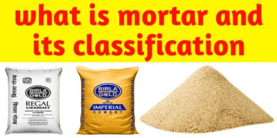 What is mortar and its classification