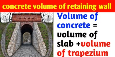 How to calculate concrete volume for retaining wall.
