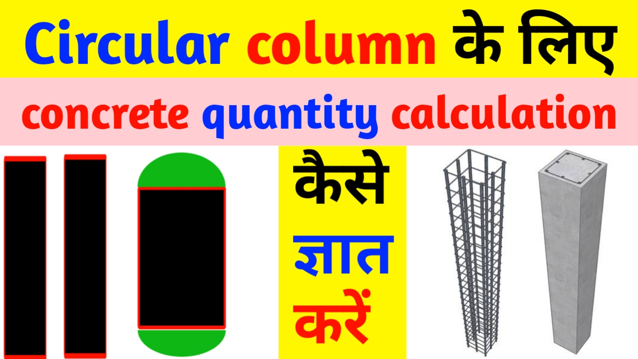 How to calculate volume of concrete for cylinder