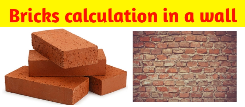 Calculation of bricks- how to calculate the number of bricks in a wall
