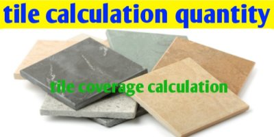 Tile coverage calculation - tile calculation quantity