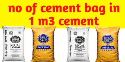 no of cement bag in 1m3 cement
