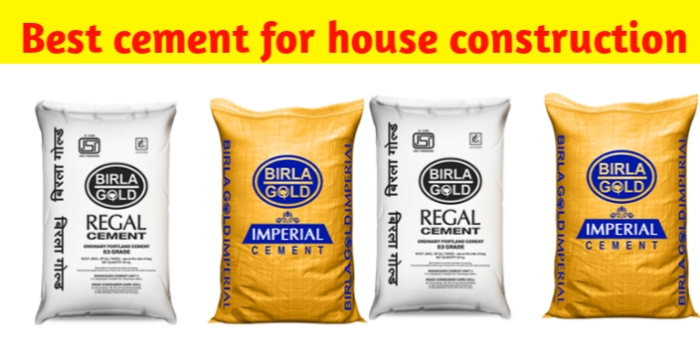 Which is best cement for house construction