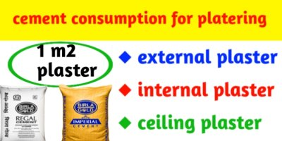 Cement consumption for plastering of 1 m2 area