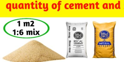 How to calculate cement sand quantity in 1:6 mortar