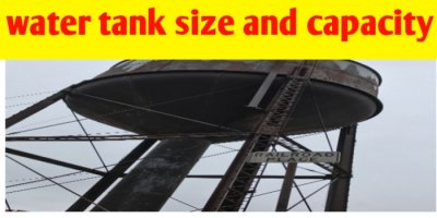 How to calculate rectangular water tank size and capacity in litre