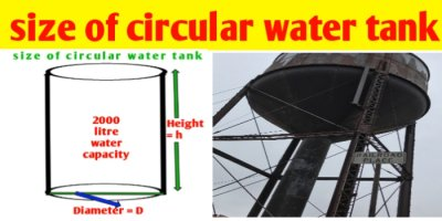 How to calculate size of circular water tank and its capacity