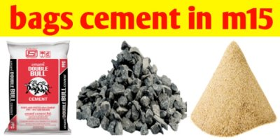 How many bags of cement in m15 grade of 1m3 of concrete