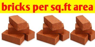 How do you calculate bricks per square foot