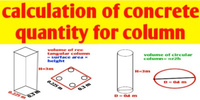 How to calculate concrete quantity for column