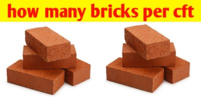 How many bricks per cft in wall