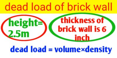 How to calculate dead load of brick wall