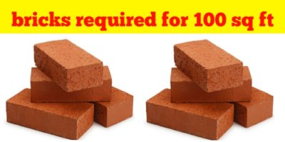 How many bricks required for 10×10 sq ft room