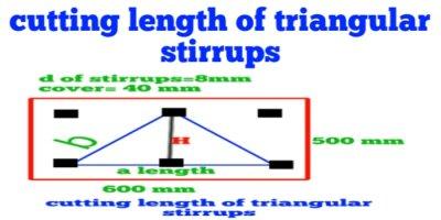 How to calculate cutting length of triangular stirrups