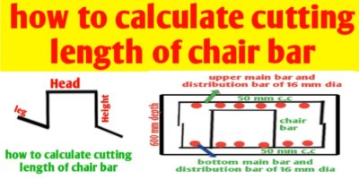 How to calculate cutting length of chair bar