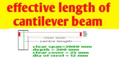 Determination of effective length of cantilever beam