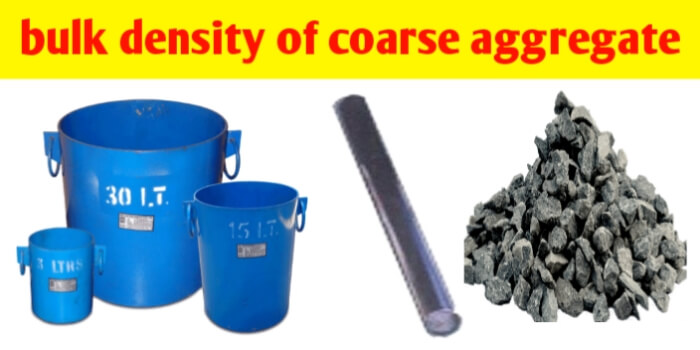 What is bulk density and % voids of coarse aggregates