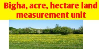 Bigha   acre   hectare - land measurement unit