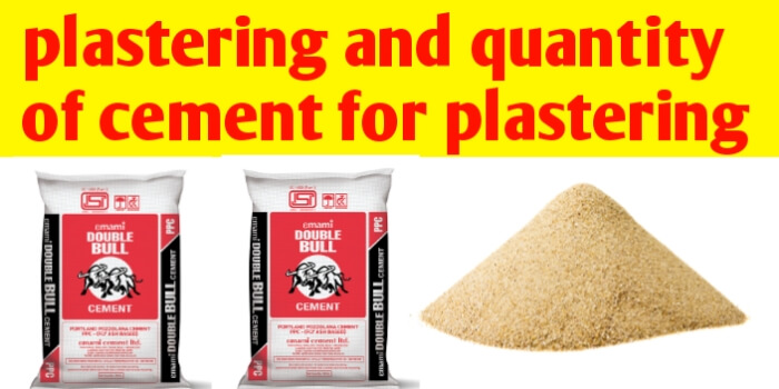 Plastering and how to calculate cement for plastering