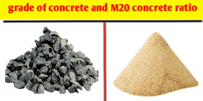Grade of concrete and m20 concrete ratio