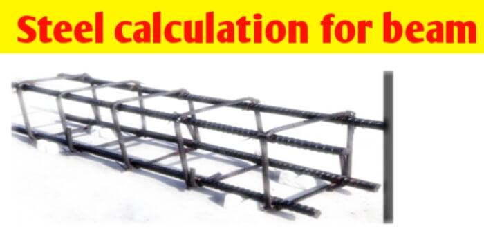 Steel calculation for beam and beam reinforcement detail