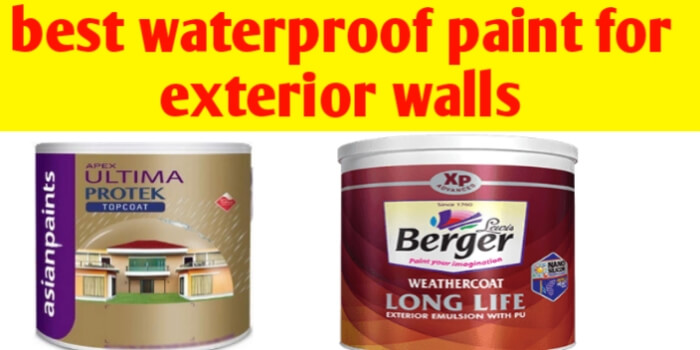 best waterproof paint for exterior walls and paint for waterproofing