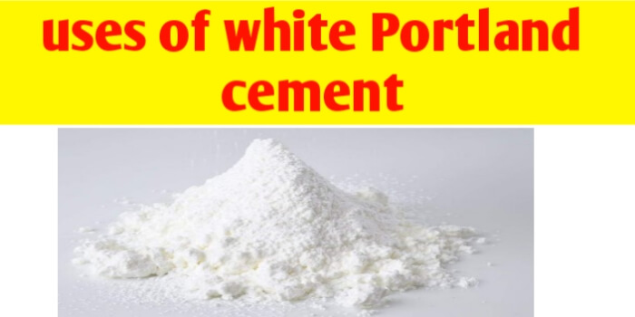 What is use of white Portland cement ?