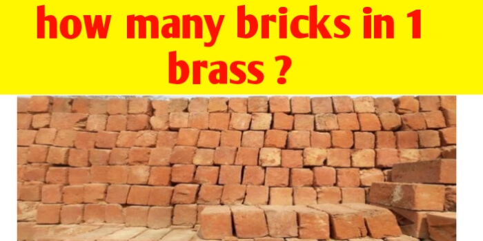 How many bricks are required in 1 brass ?