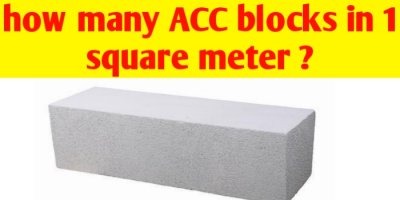 How many AAC blocks in 1 square metre ?