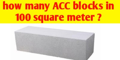 How many AAC blocks in 100 square metre ?