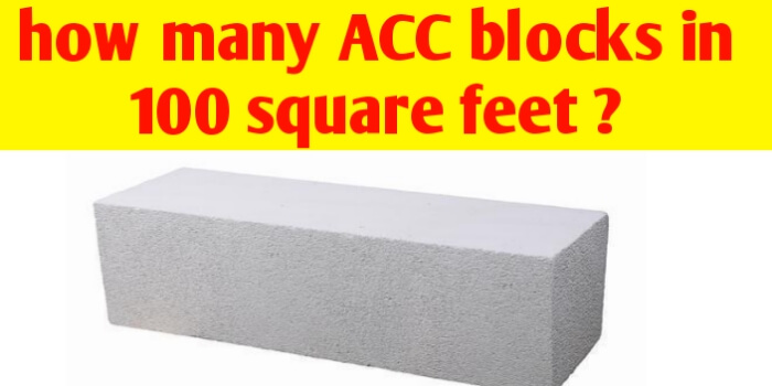 How many AAC blocks in 100 square feet ?