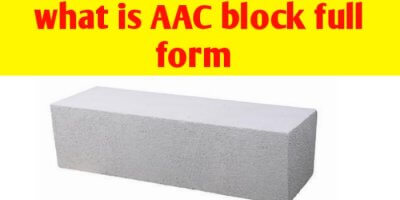 What is AAC block full form in civil engineering ?