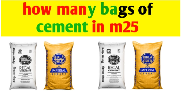 how many bags of cement are required in concrete grade M25