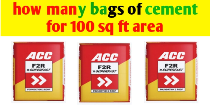 How many bags of cement for 100 square feet area?