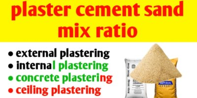 Plaster cement sand ratio | plastering & it's types