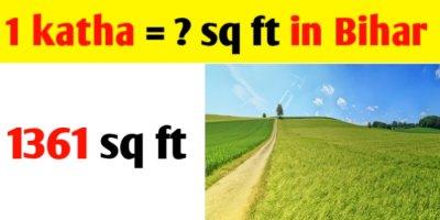 1 Katha = sq ft in Bihar Patna land measurement