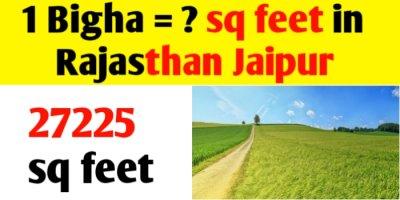1 Bigha = sq feet in Rajasthan Jaipur land measurement