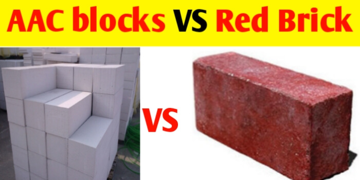 AAC blocks VS red Brick | Properties and uses