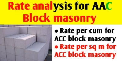 Rate Analysis for AAC Block masonry