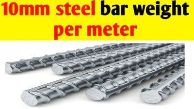 10mm Steel bar weight per meter and per foot