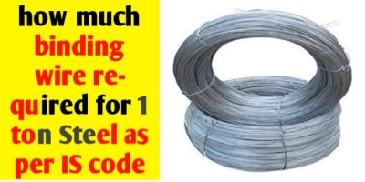 Binding wire required for 1 ton Steel as per IS code