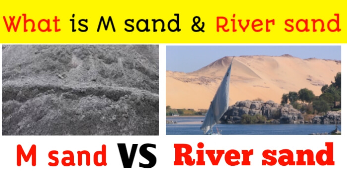 What is M-Sand & River Sand | M sand vs River sand