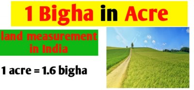 1 Bigha in acre | land measurement unit in India