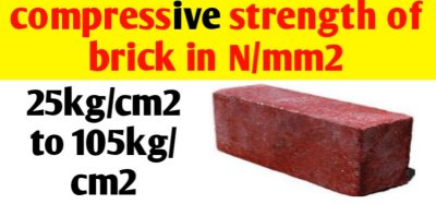 Compressive strength of brick in N/mm2 & kg/cm2