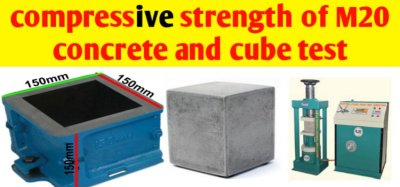 Compressive strength of M20 concrete -cube Test, procedure & result