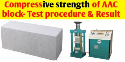 Compressive strength of AAC Block - Test procedure & Result