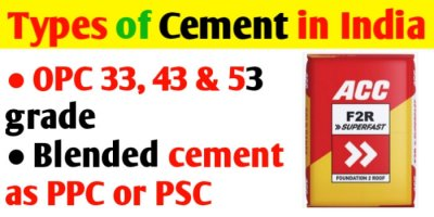 Types of cement in India | Cement used for construction