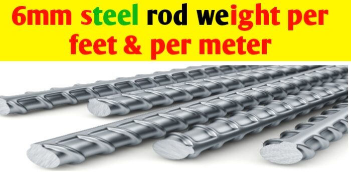 6mm Steel rod weight per meter and per feet